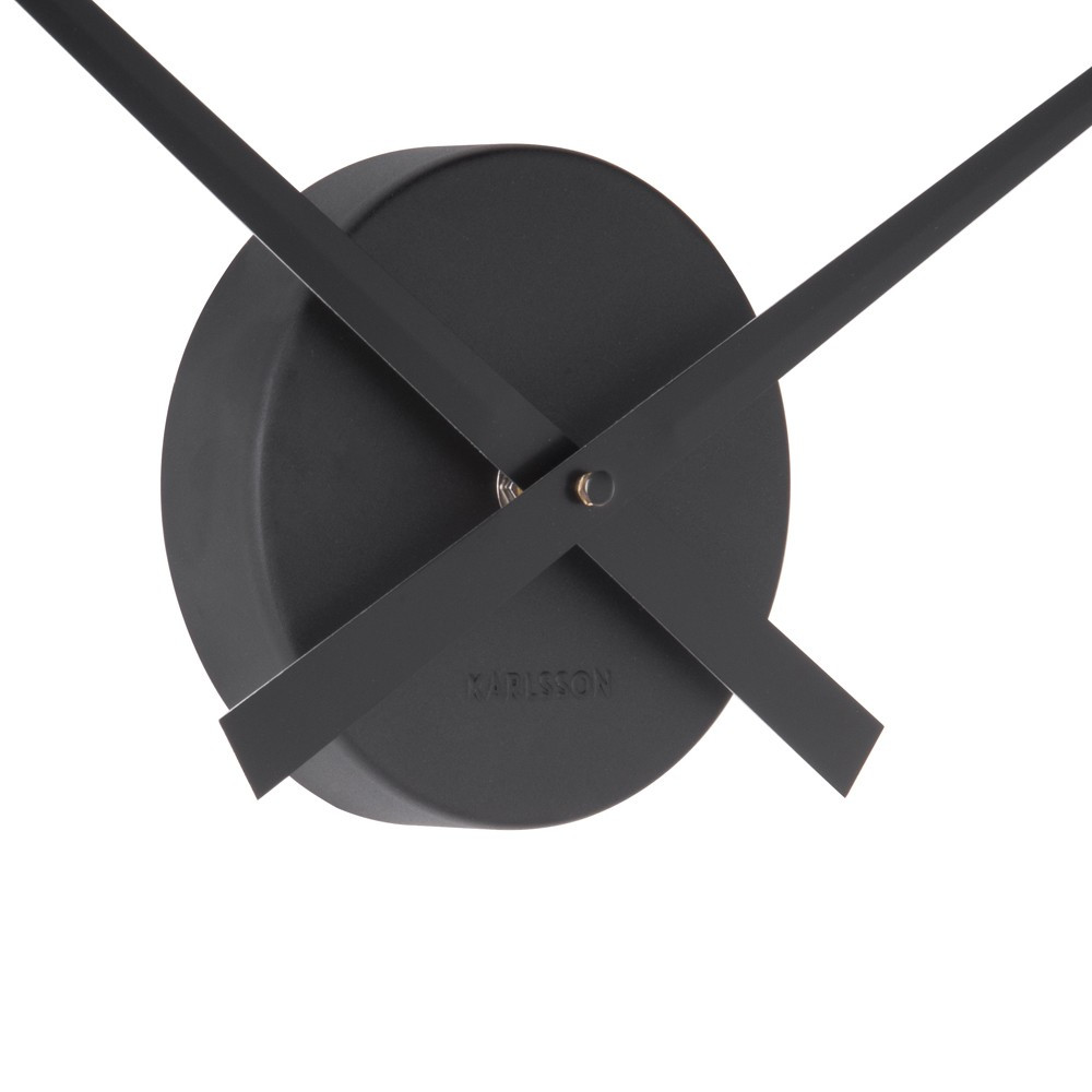 Horloge murale en aluminium noire D41