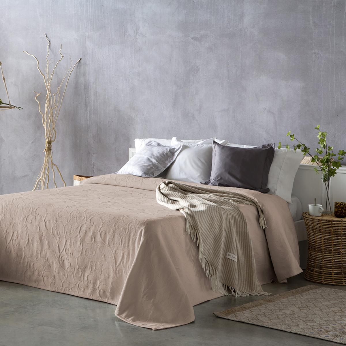 Couvre lit en coton terre 250x270
