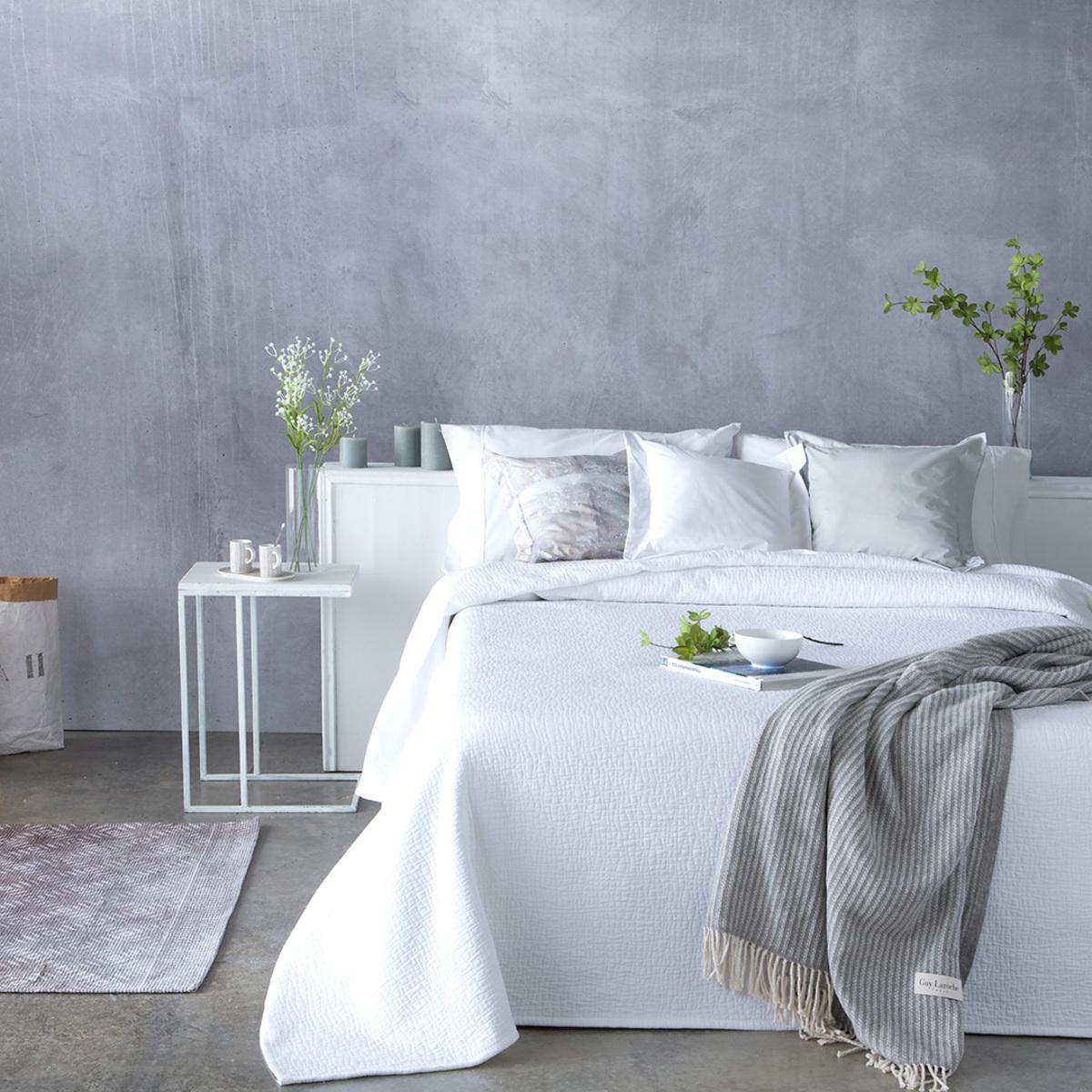 Couvre lit en coton blanc 250x270