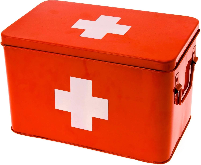 Boîte à pharmacie rouge 21x19cm