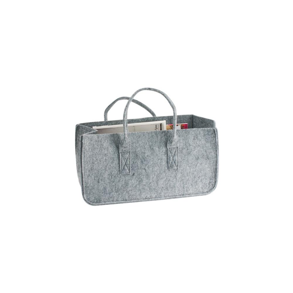 Porte revues en feutrine grise