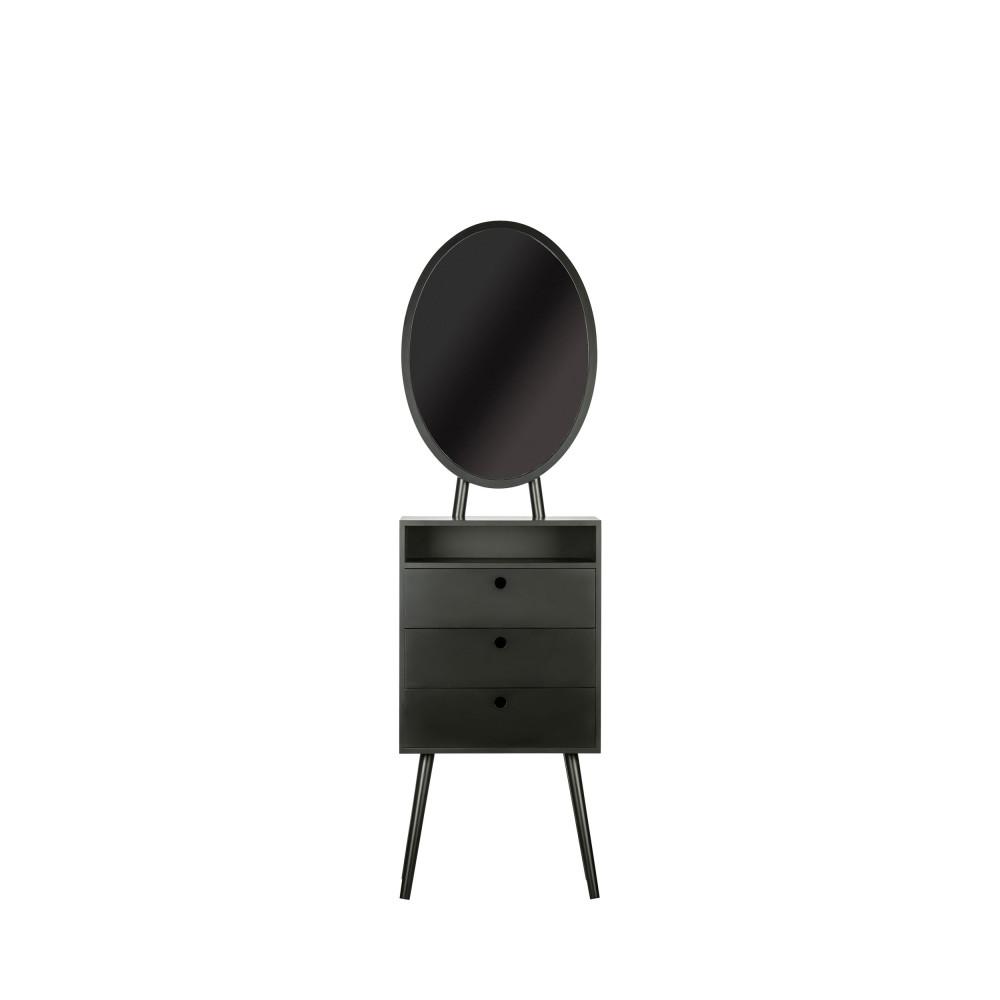 Coiffeuse en bois 55x35cm noir
