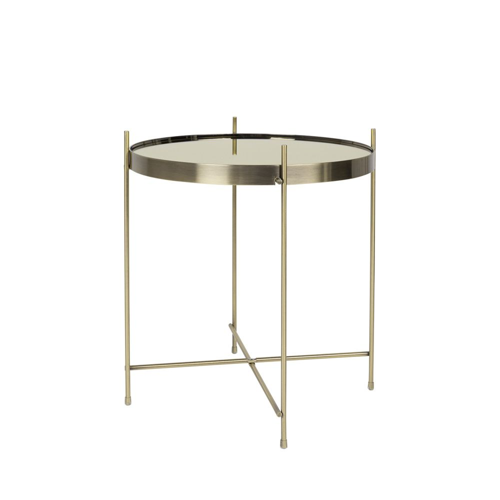 Table basse design ronde Small or