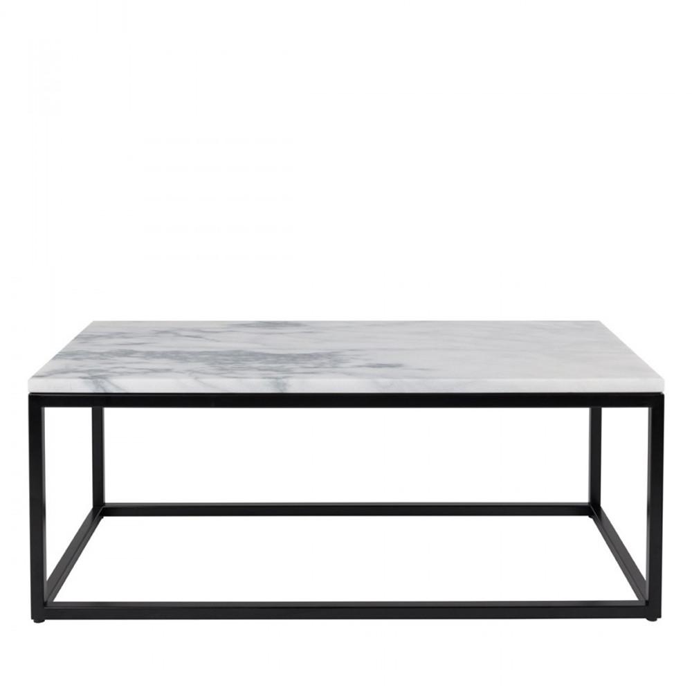 maison du monde Table basse rectangulaire blanc  et  noir