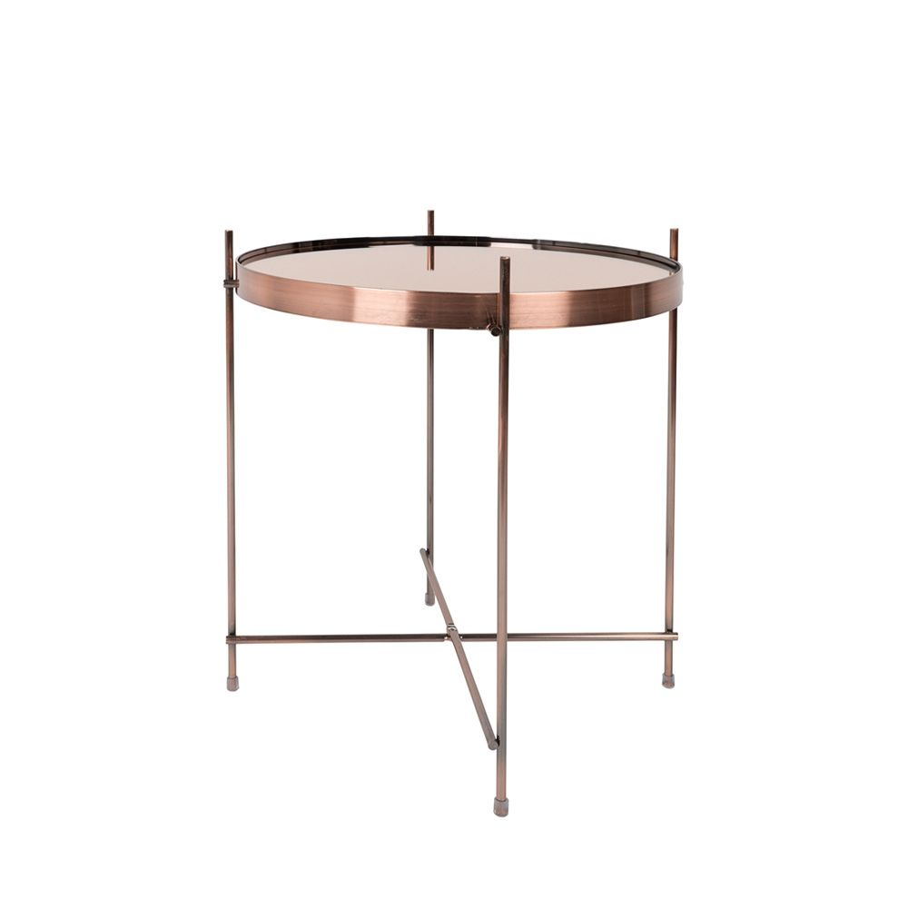 Table basse design ronde Small cuivre
