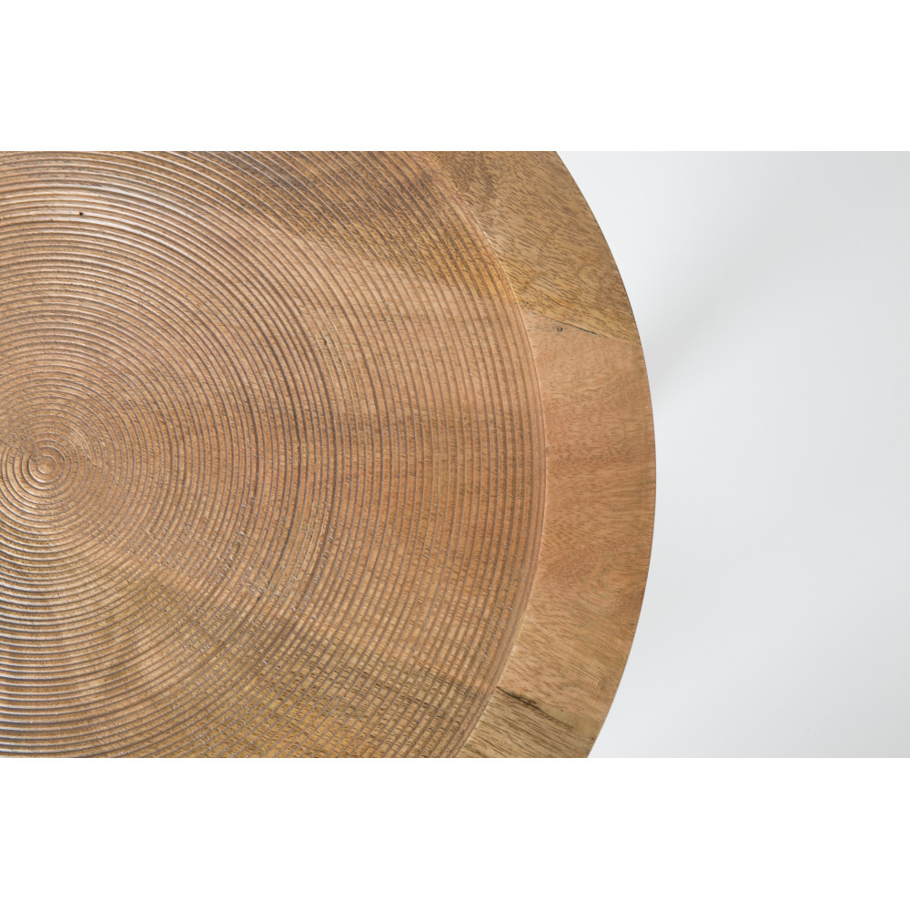 Table d'appoint ronde bois D60cm bois massif