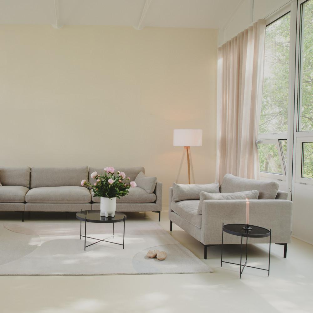 Table basse design ronde Small noir