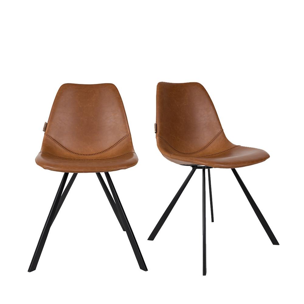 2 chaises vintage marron