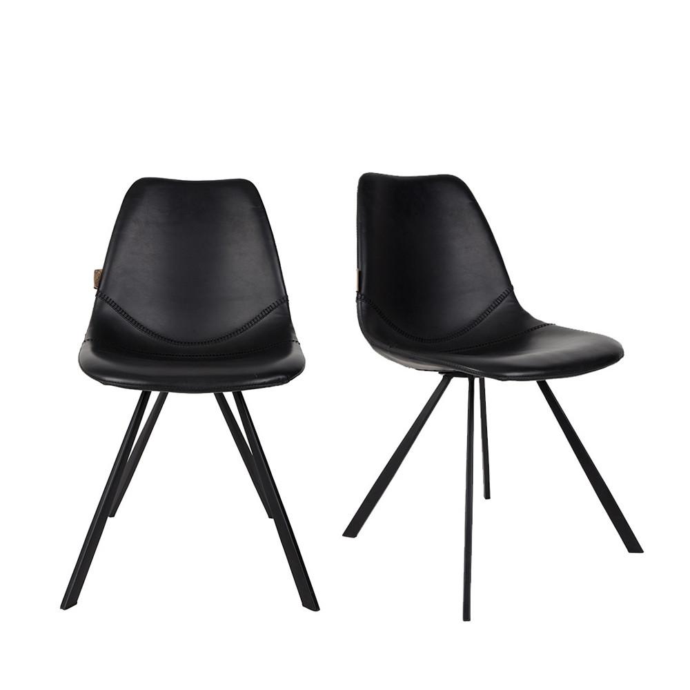 maison du monde 2 chaises vintage noir