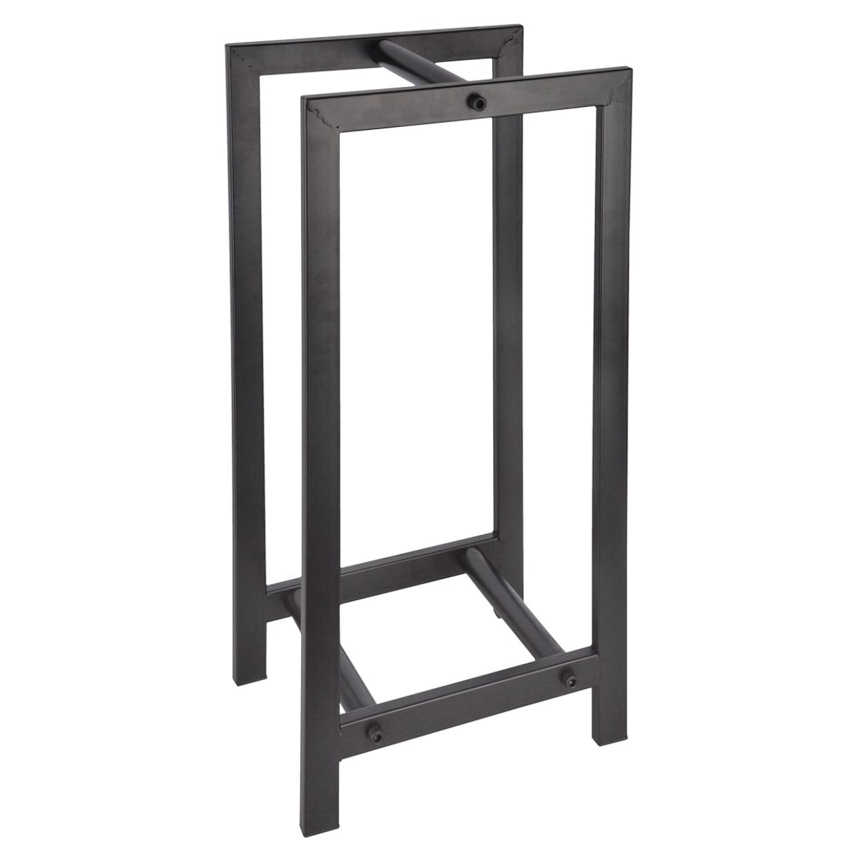 Range bûches pour intérieur en acier carbone noir