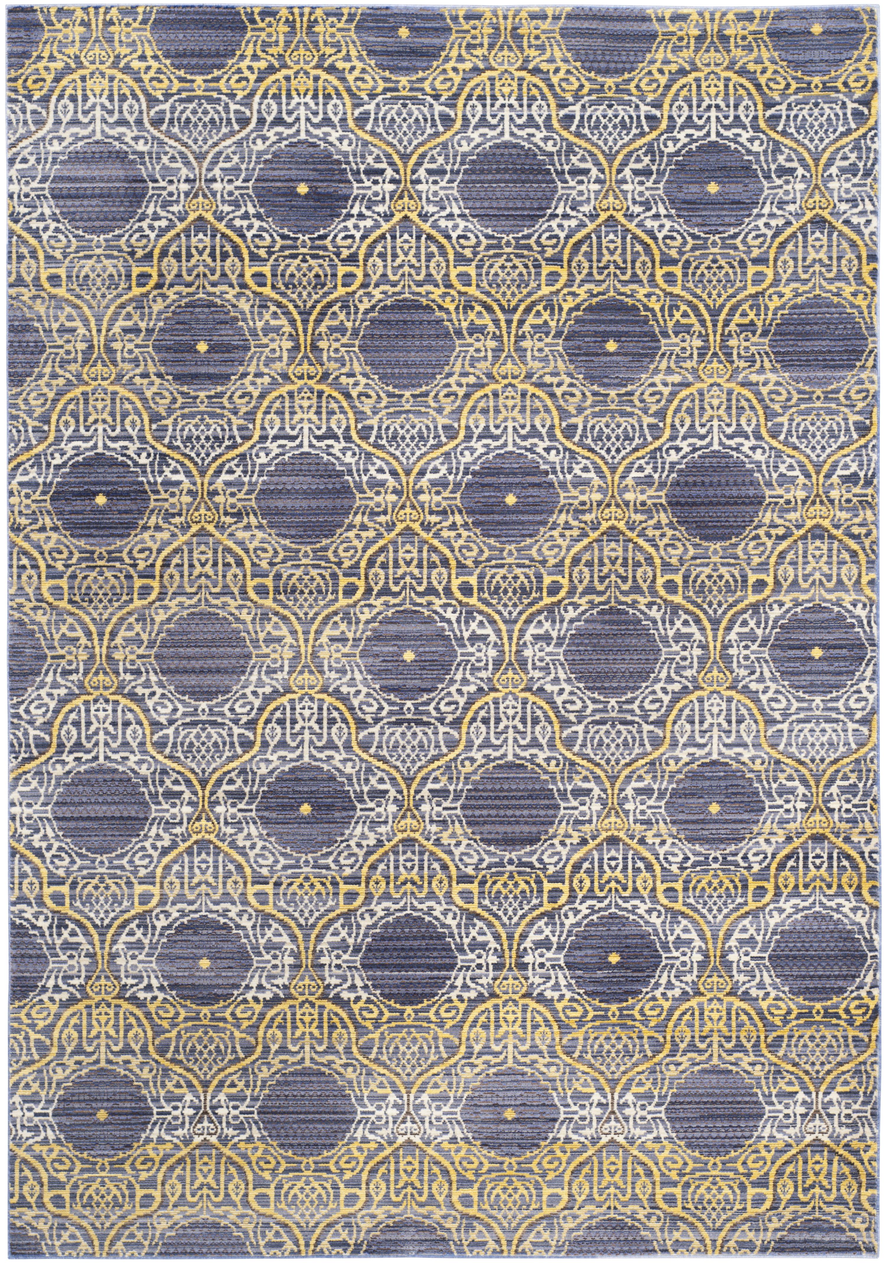 Tapis de salon d'inspiration vintage lavande et or 121x182