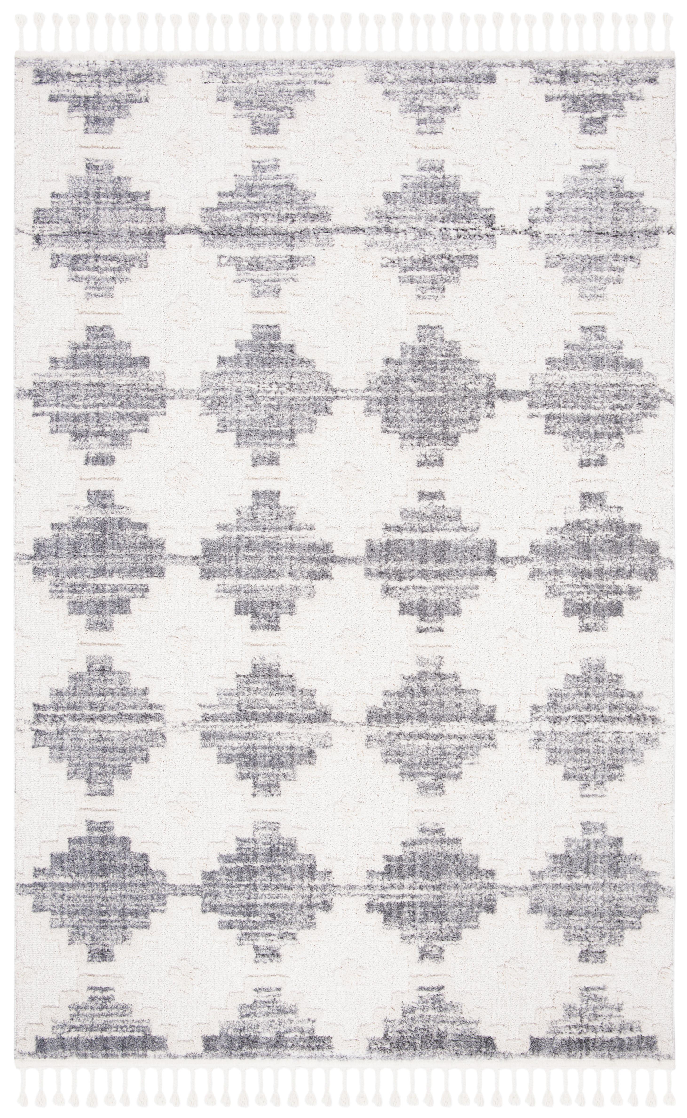 Tapis de salon contemporain  ivoire et multicolore 121x182