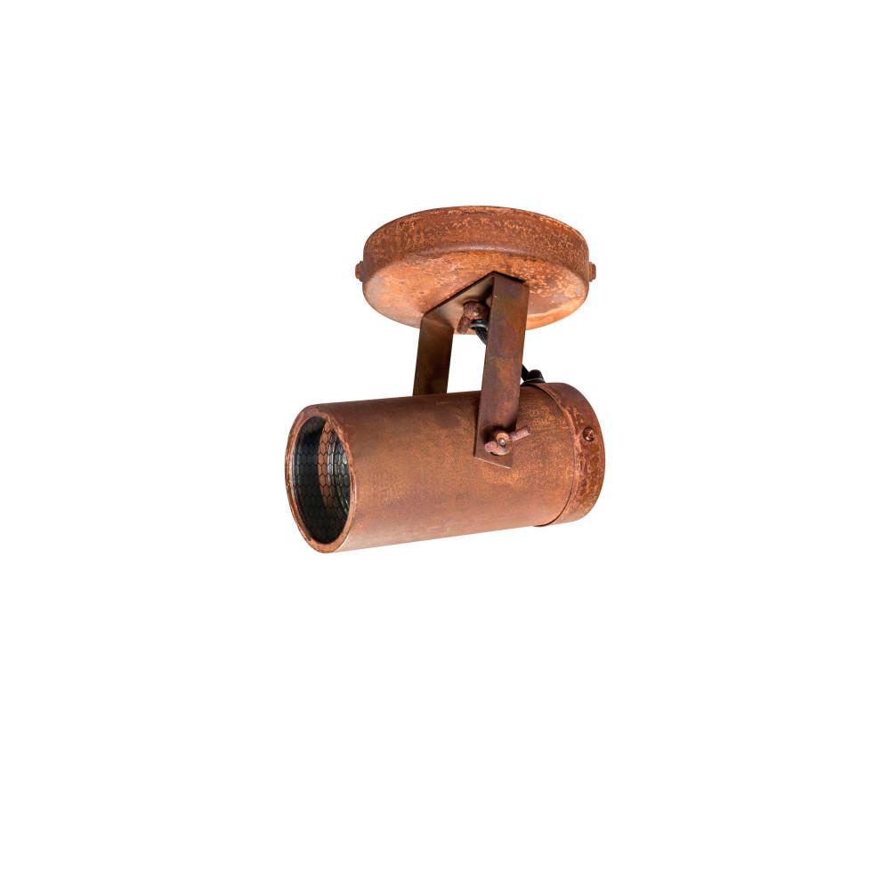 Applique et plafonnier industriel rouille