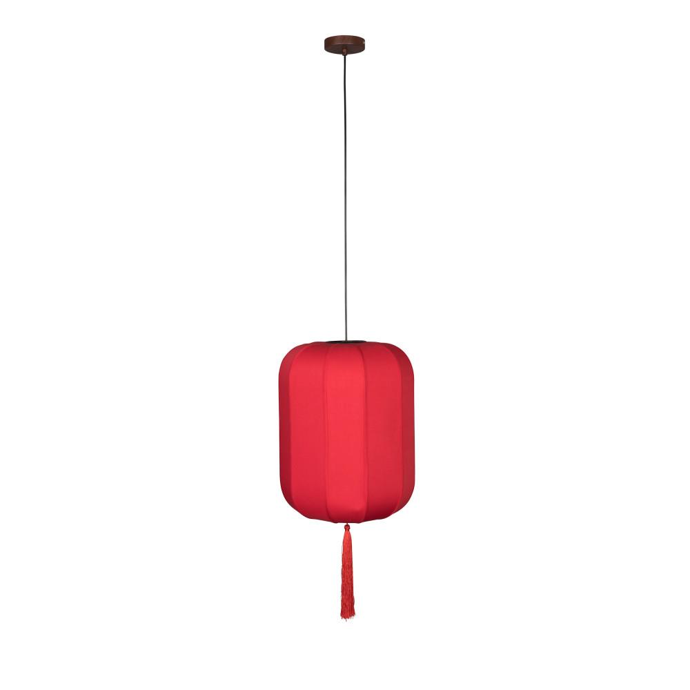 Suspension style lanterne japonaise D40cm rouge