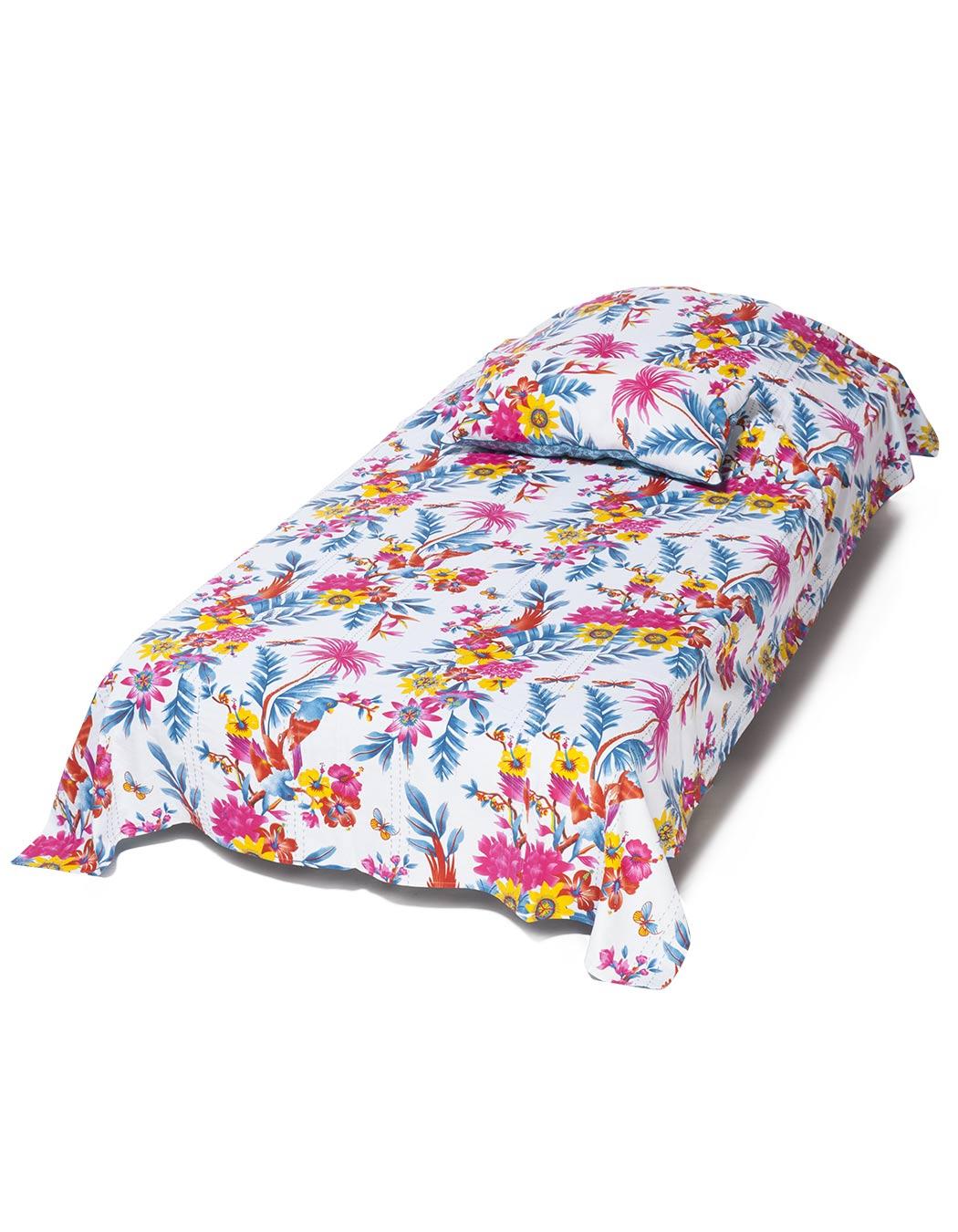Jeté de lit surpiqué en coton white 140 x 230
