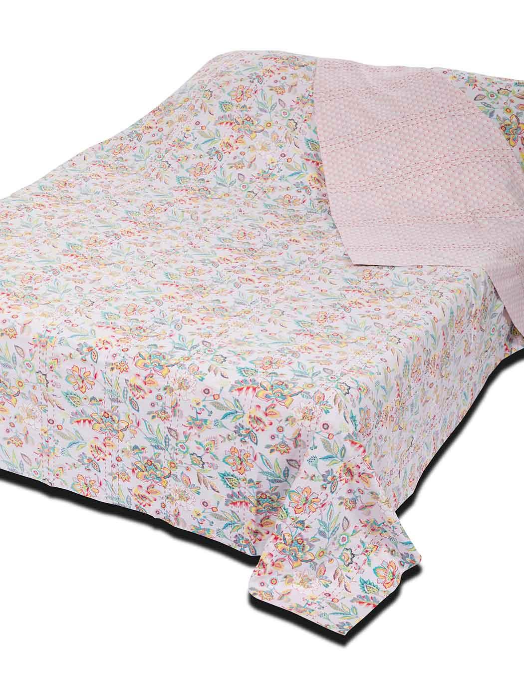 Jeté de lit surpiqué en coton perle 240 x 260