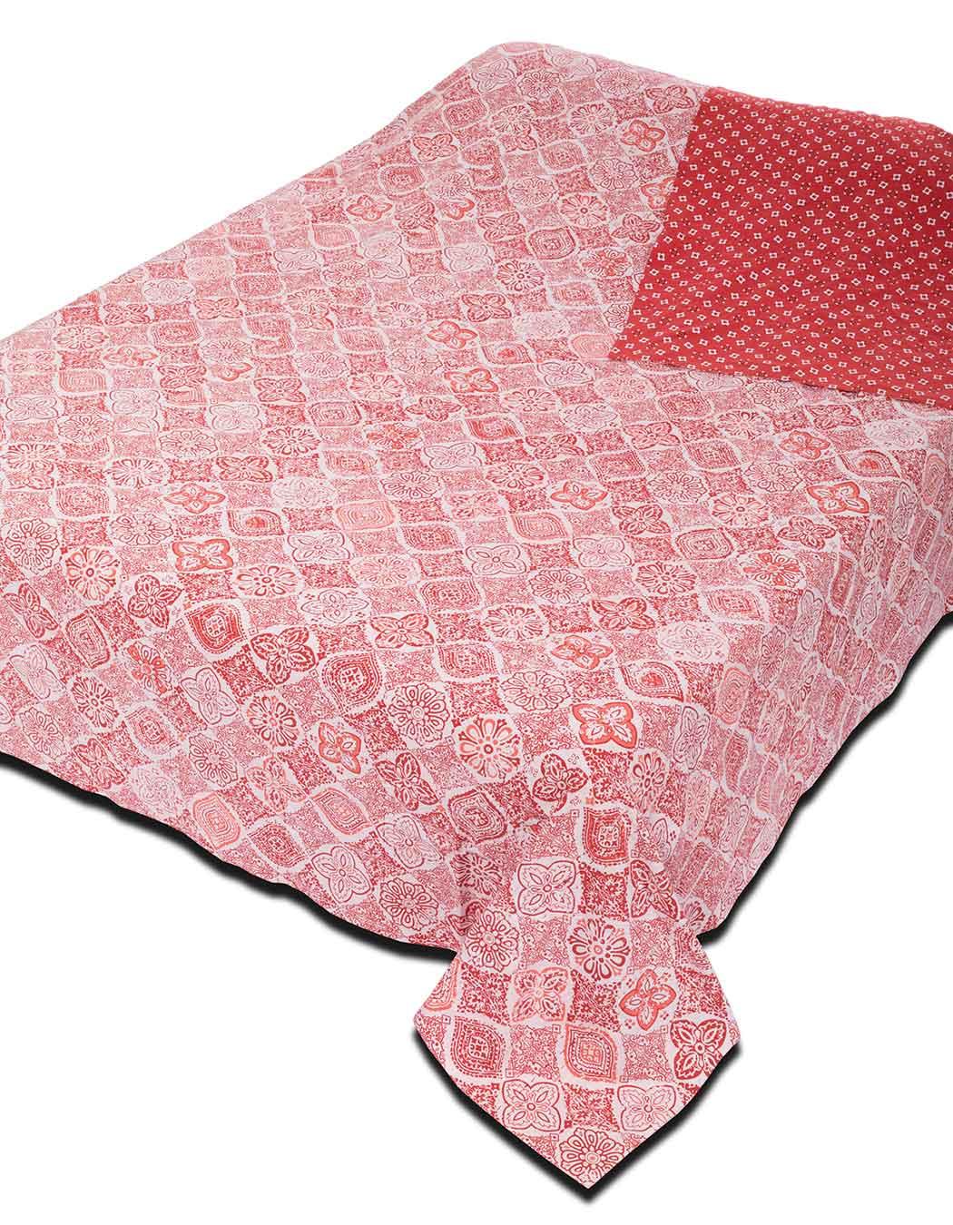Jeté de lit surpiqué en coton magma 240 x 260