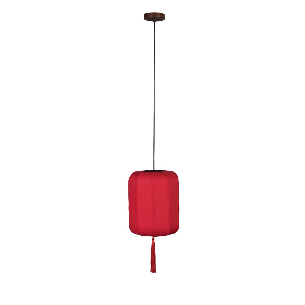 Suspension style lanterne japonaise D30cm rouge
