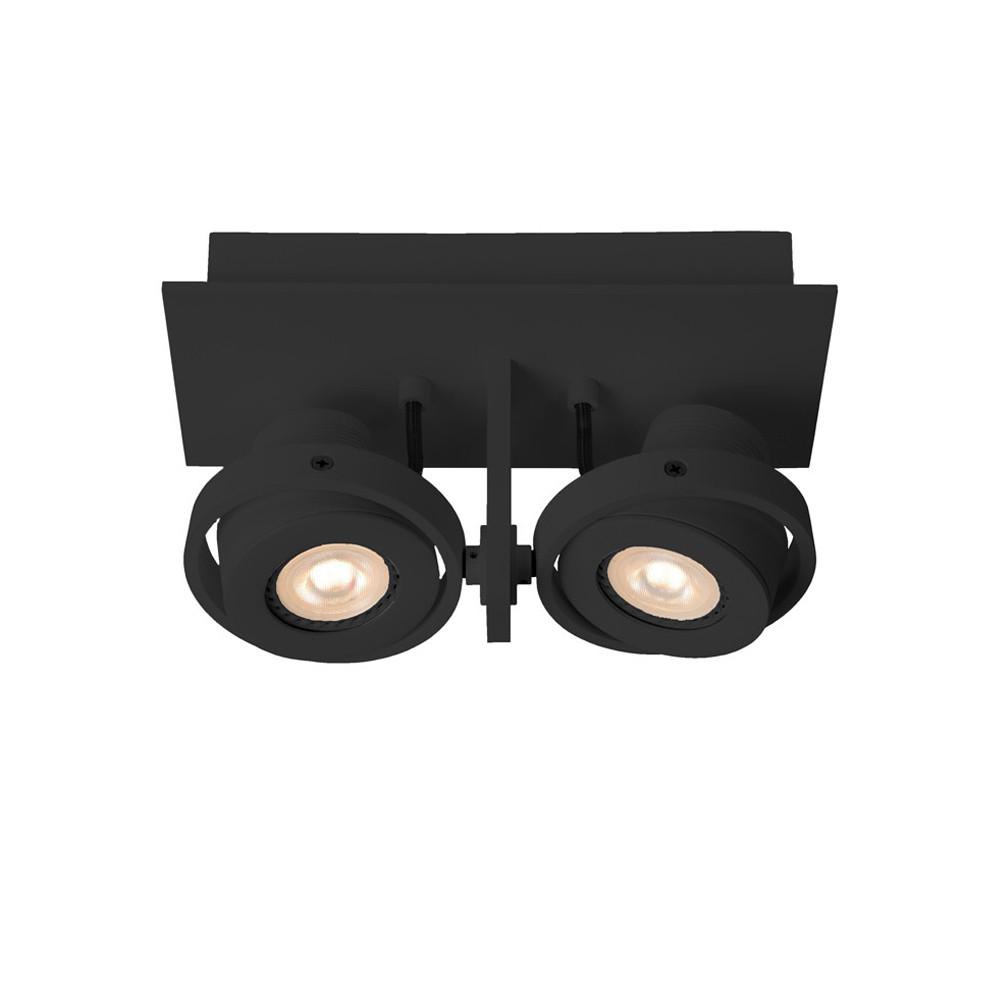 Plafonnier design LED double noir