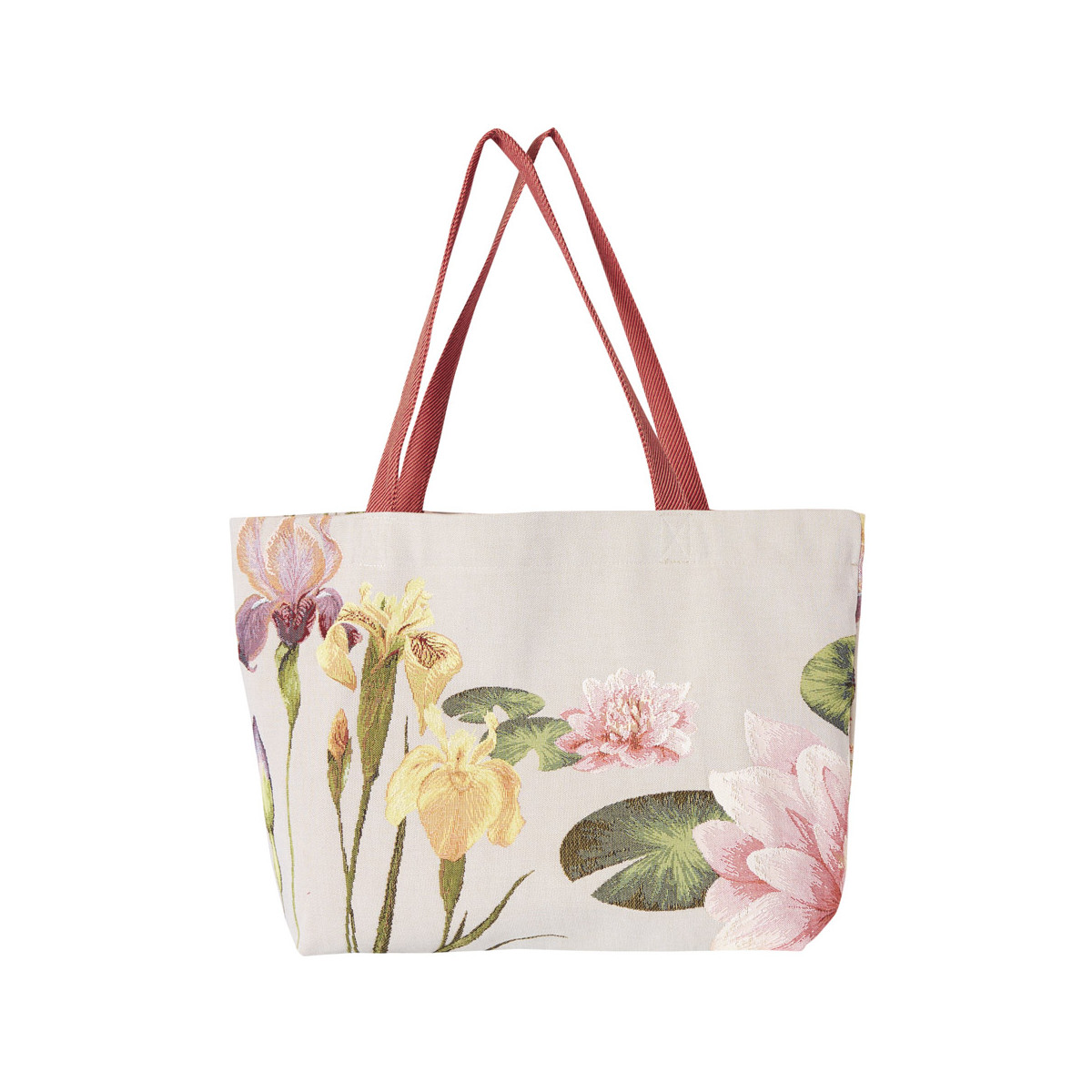 Sac cabas tapisserie giverny gris