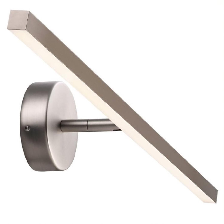 Applique LED de salle de bain métal argenté L60cm