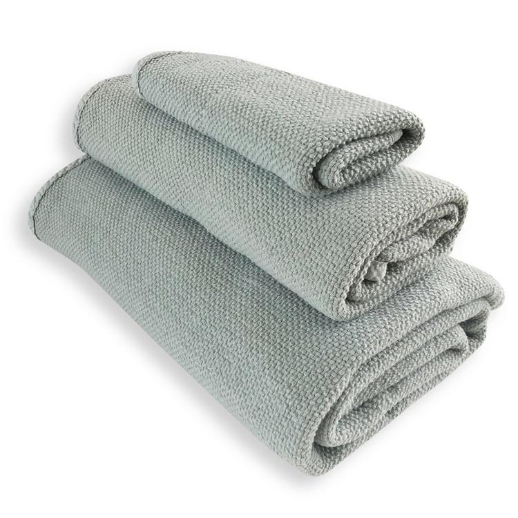 Lot de 3 serviettes vert d'eau 30X50, 50X100, 90X160