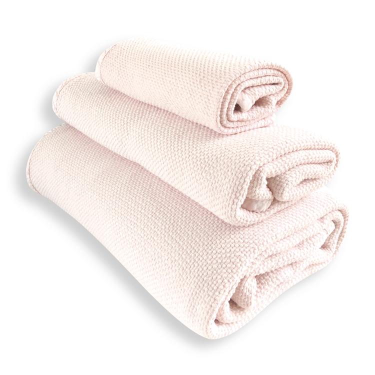 Lot de 3 serviettes rose nude 30X50, 50X100, 90X160