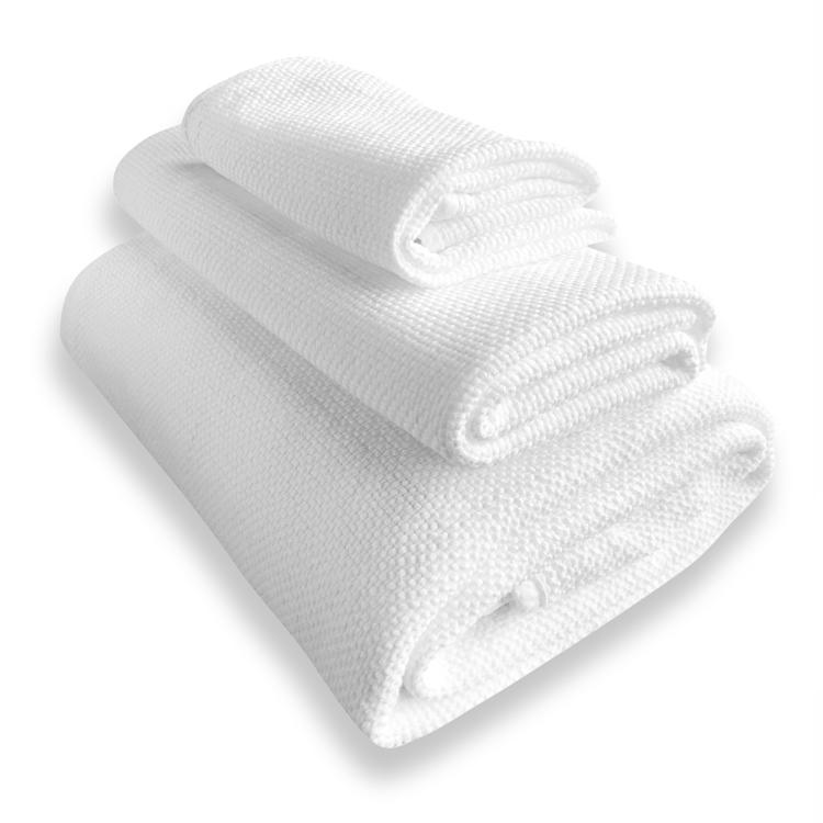 Lot de 3 serviettes white