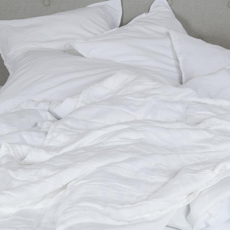 Couvre-lit gaze de coton blanc 140x250