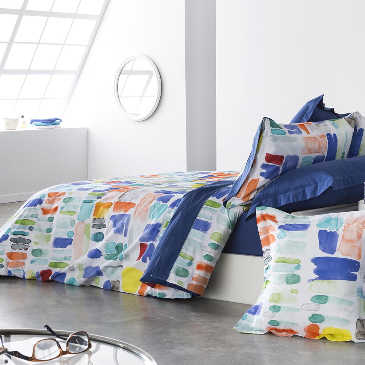 Housse de couette en coton bicolore  140x200
