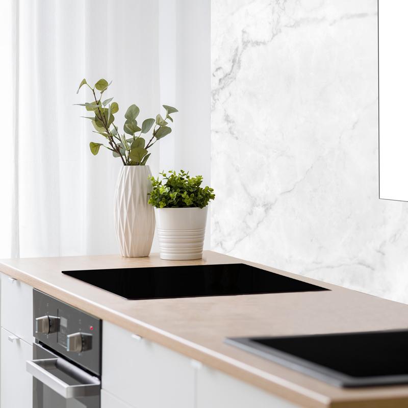 Crédence cuisine en alu fond de hotte L90xH70cm