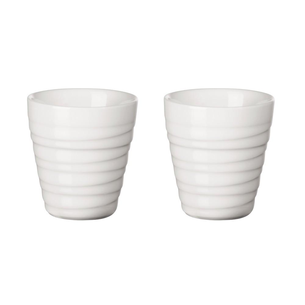 Set de 2 tasses en porcelaine blanche 0,08l