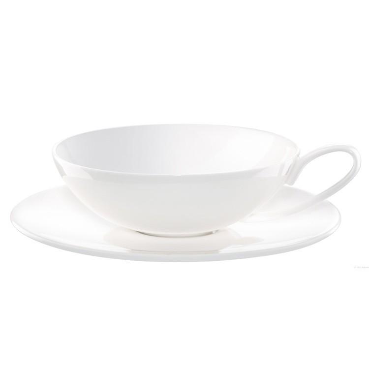 Tasse à thé et soucoupe en porcelaine blanche 170ml