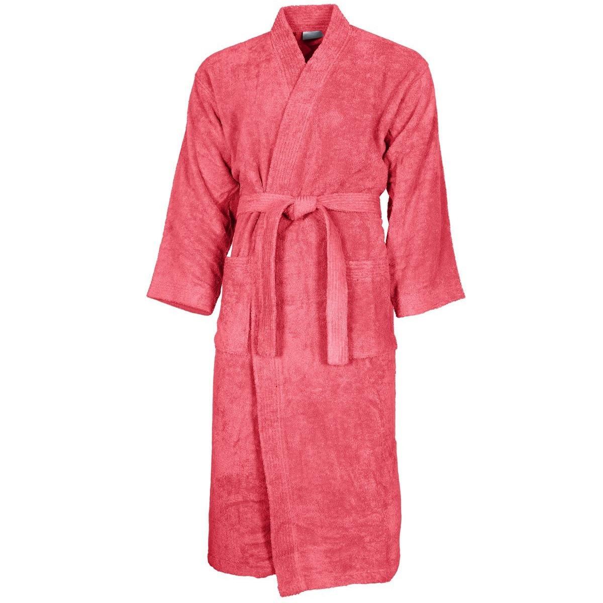 Peignoir col kimono Framboise L