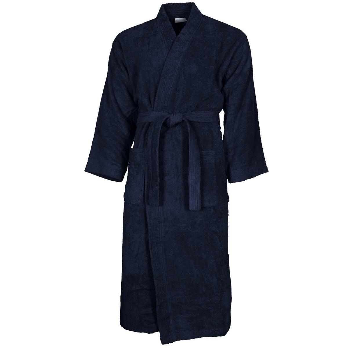 Peignoir col kimono Bleu Nuit M