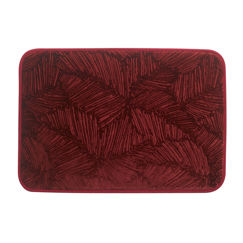 Tapis de bain  en polyester bordeaux 45 x 65