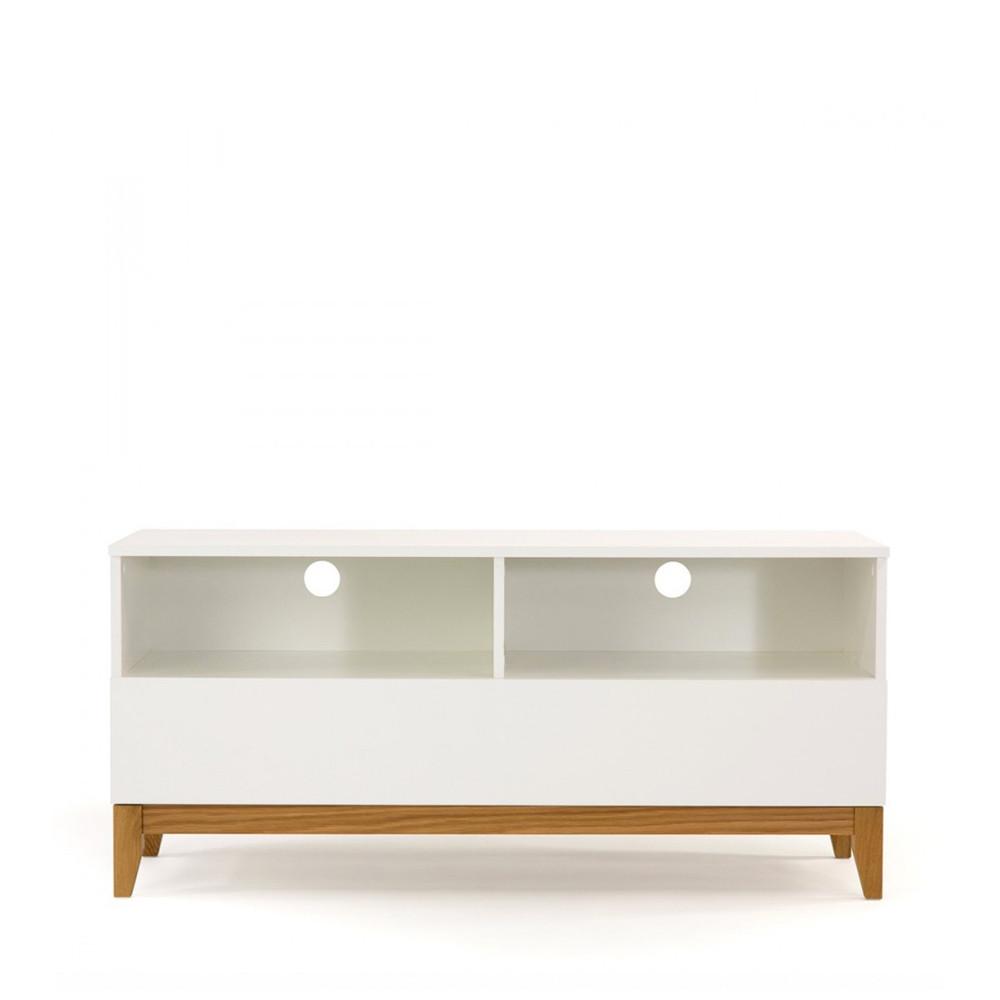 Meuble TV design scandinave Wide blanc