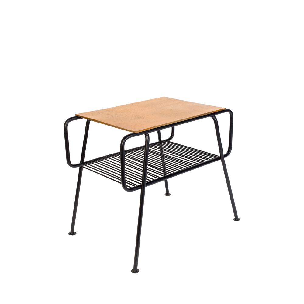 Table d'appoint en métal noir