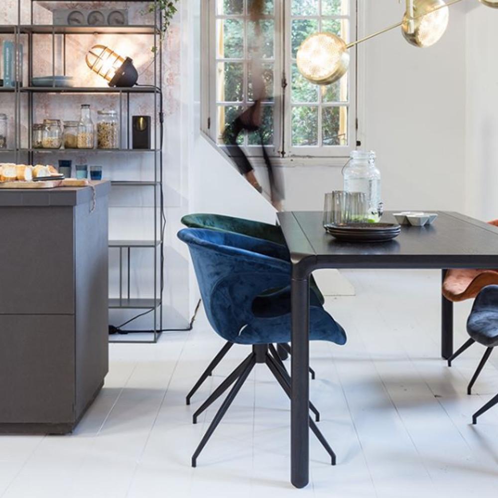 Table à manger bois 220x90 noir