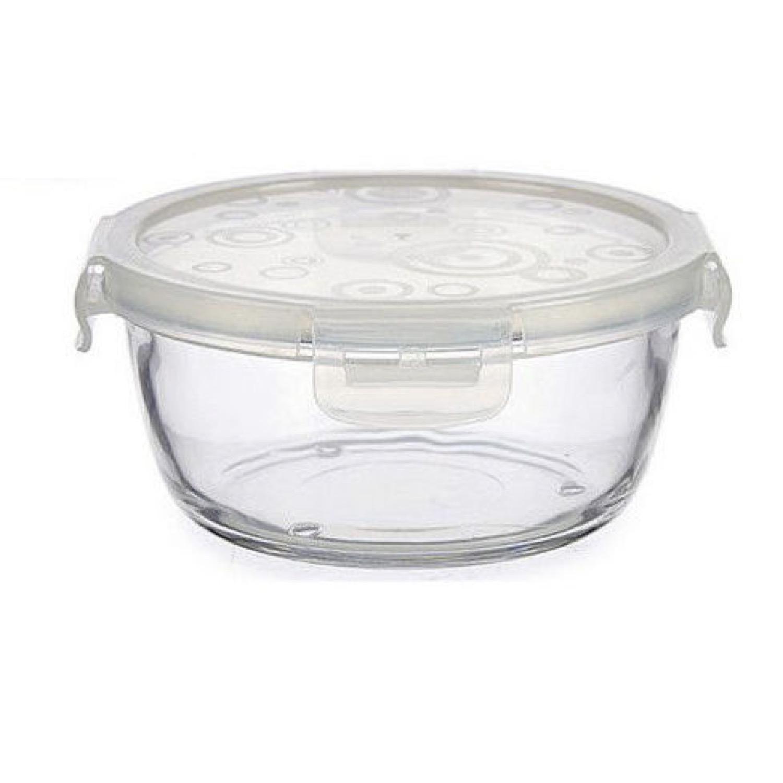 Boîte de conservation ronde en verre avec couvercle 75cl