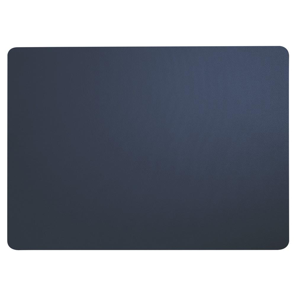 Set de table aspect cuir bleu navy 46x33