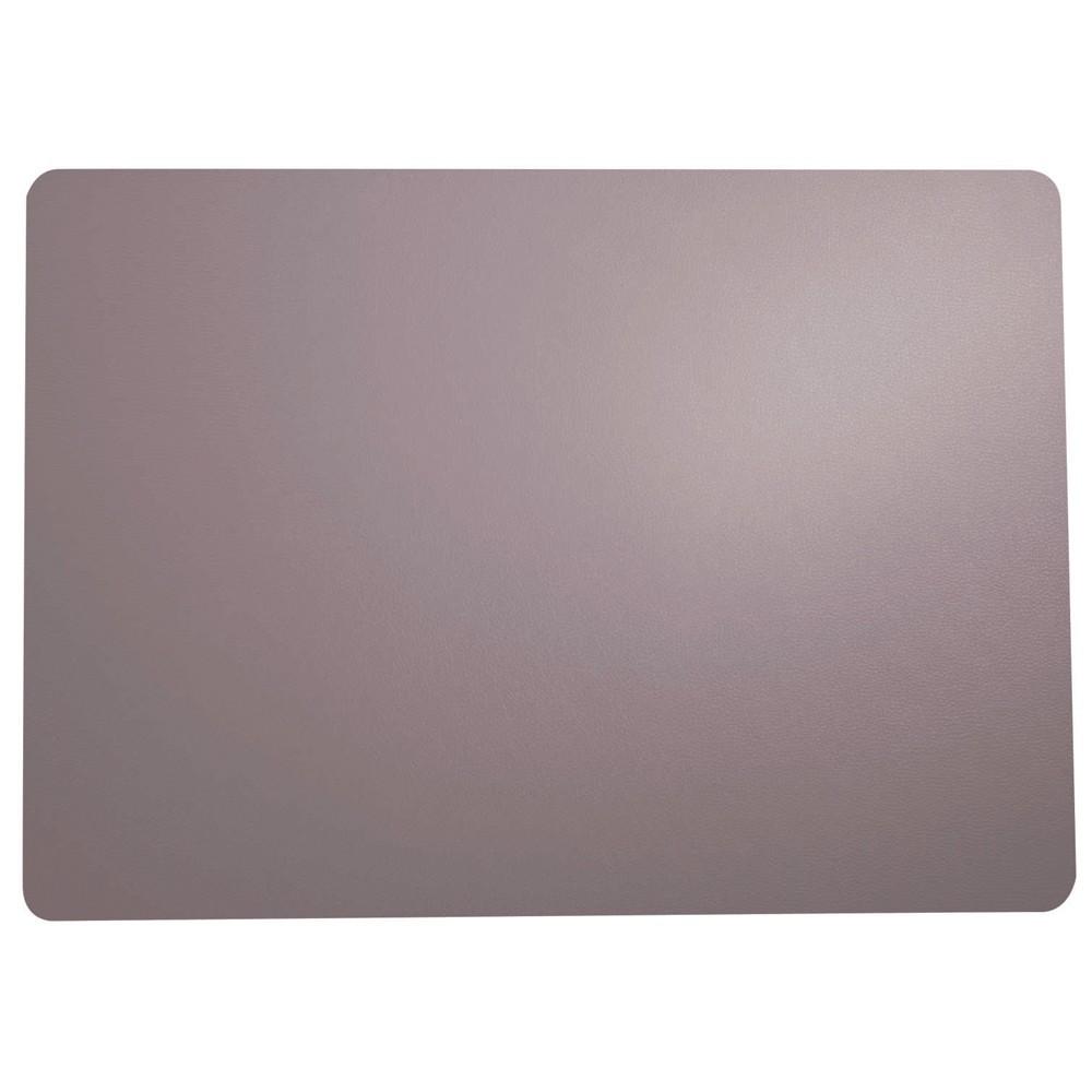 Set de table aspect cuir lavande 46x33
