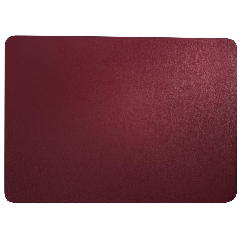 Set de table aspect cuir rouge 46x33