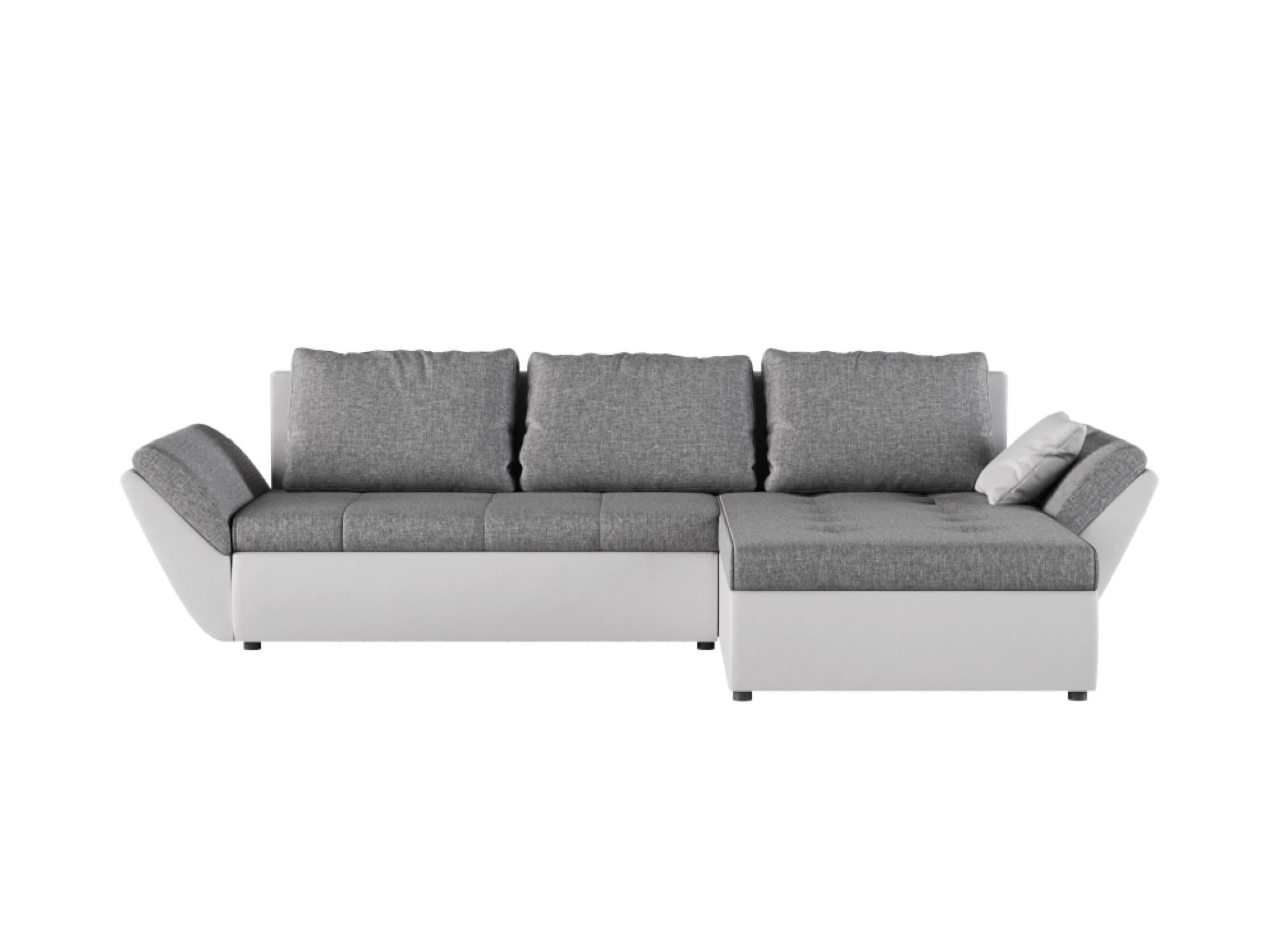 Canapé d'angle 4 places Blanc Contemporain Confort