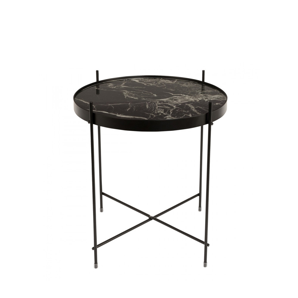 Table basse design ronde S noir