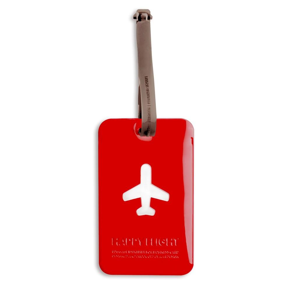 Etiquette bagage rouge
