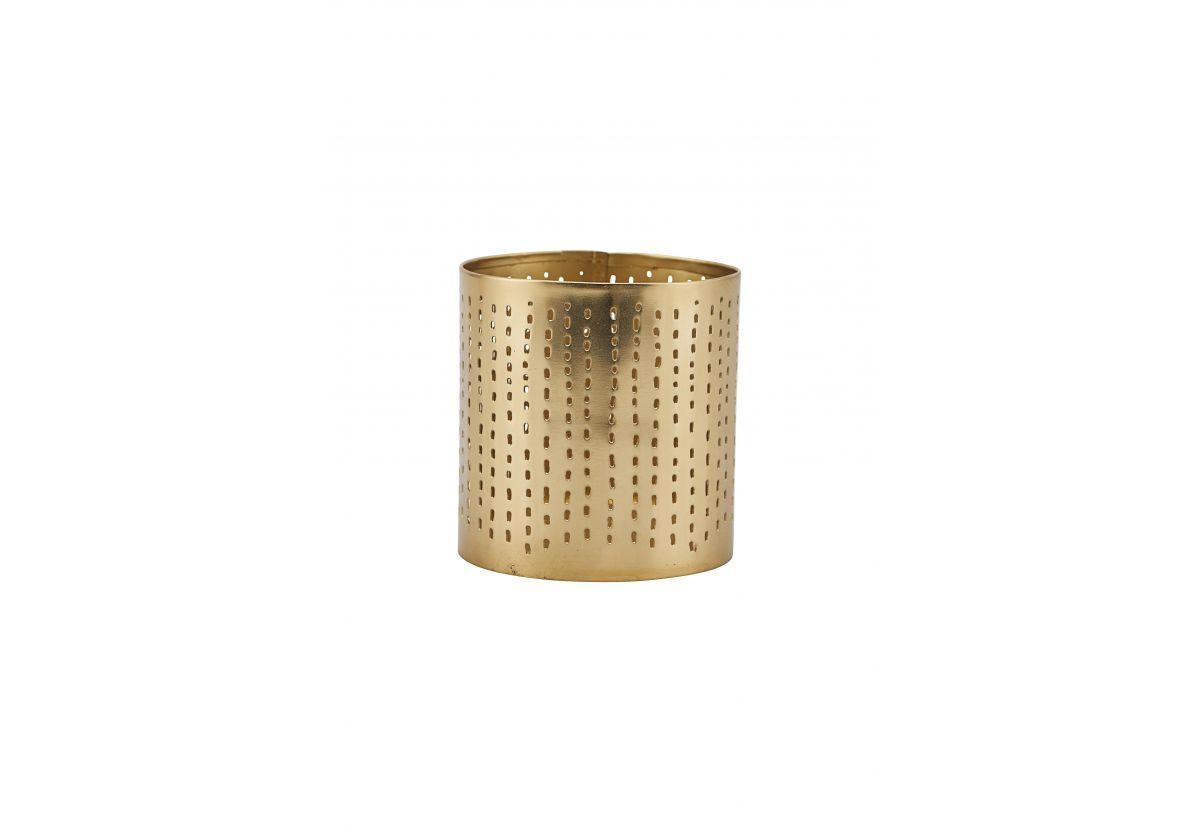 Photophore doré en métal H9cm
