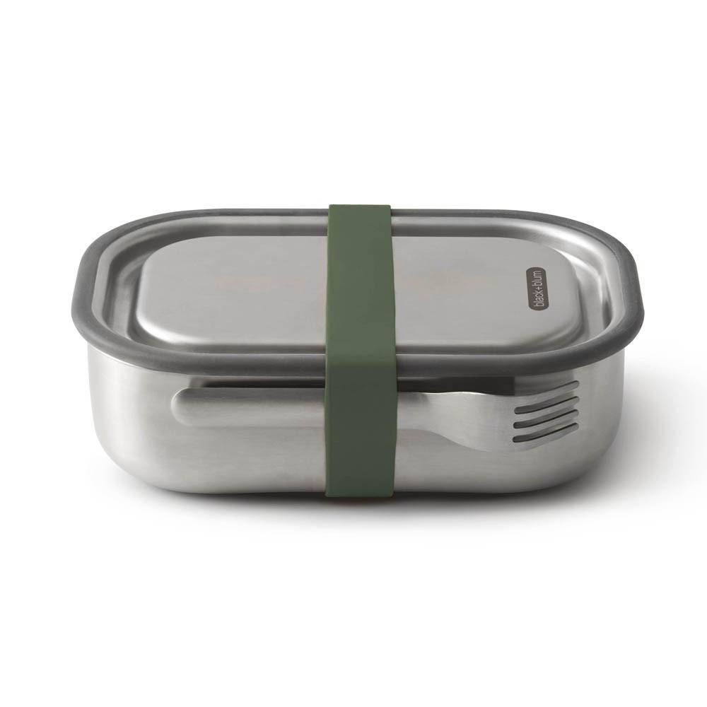 Lunch box acier multifonctions vert olive