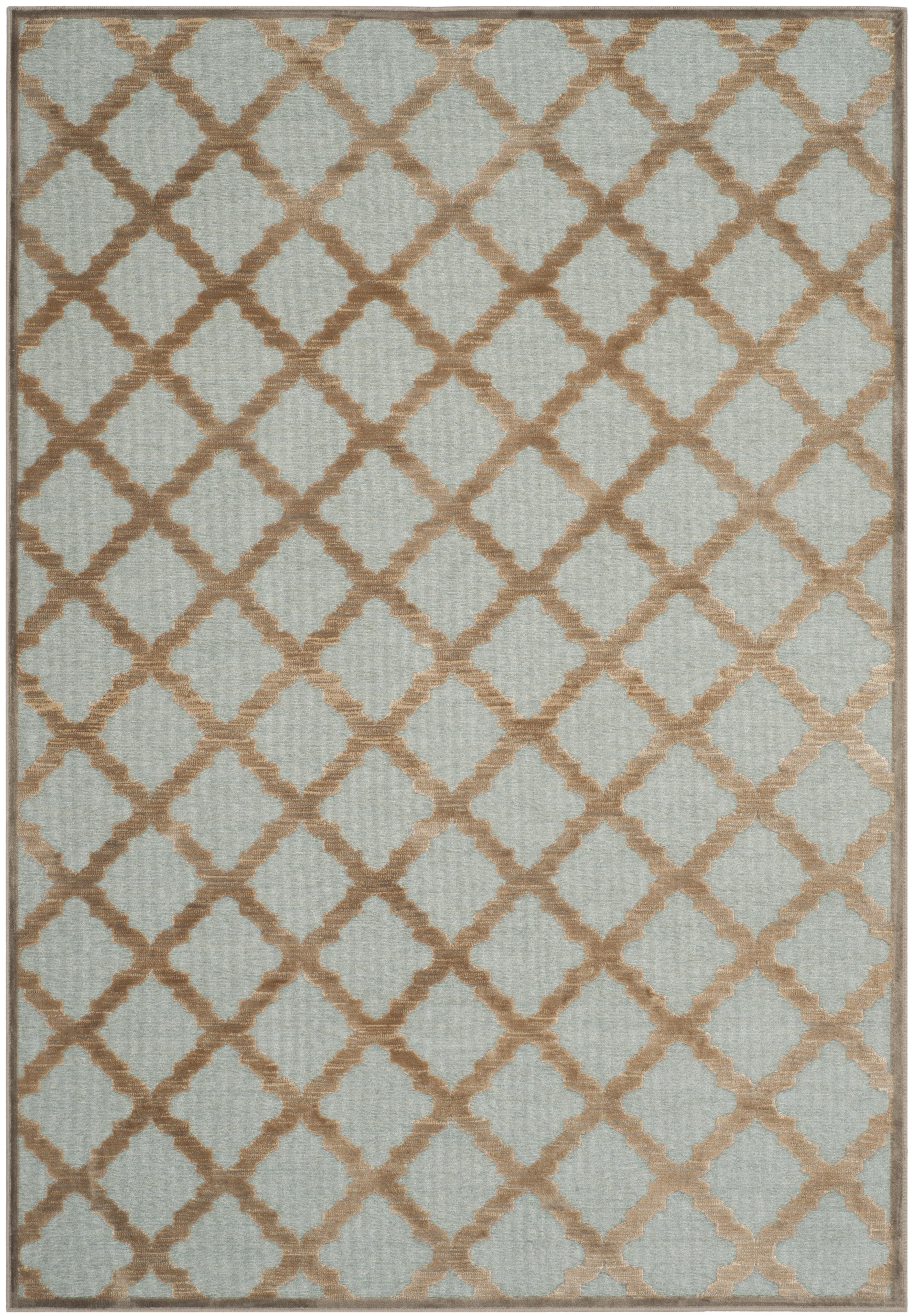 Tapis de salon d'inspiration vintage beige et turquoise 120x170