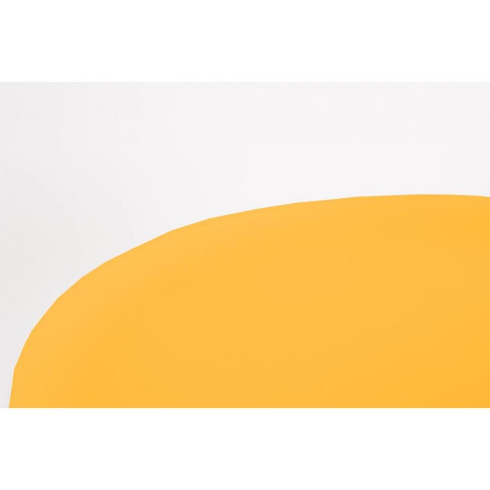 Table basse métal tripode jaune